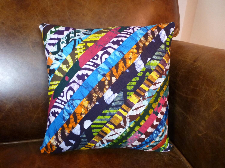 Throw Pillows Jysk : Dutch Wax Decorative Throw Pillow Cover 12 x 12 Ghanaian
