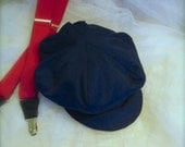 Baby Newsboy hat, Admiral  Navy Blue or Black newsboy hat,  baby  hat, beret for baby, Photo hat, Beret for Babies