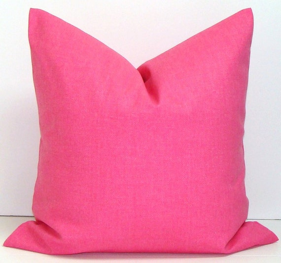SOLID PINK PILLOW.20x20 inch Pillow by ElemenOPillows on Etsy