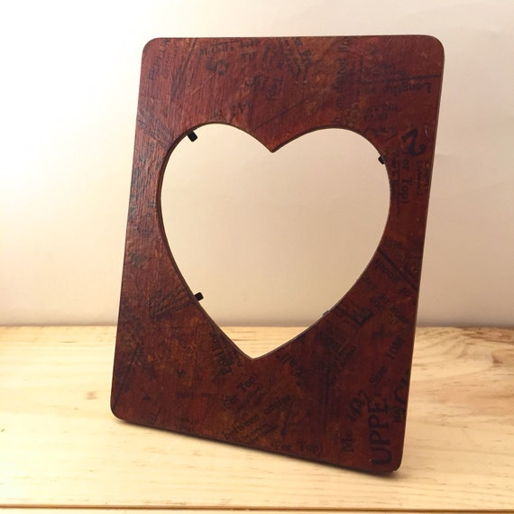 Heart picture frame vintage sewing pattern vintage for Bungalow style picture frames