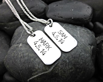 His and Hers Matching Necklaces - Personalized Couples Jewelry -  Her One - His Only - Wedding - Anniversary - Valentine's Day - Gift