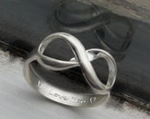 Infinity ring, Eternity ring, bridesmaids ring, best friend infinity, together forever, forever ring, sorority ring, Big Sis Lil Sis, rings