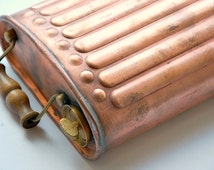 Antique French copper foot warmer, antique hand warmer, carriage warmer, sleigh warmer, antique car enthusiasts,