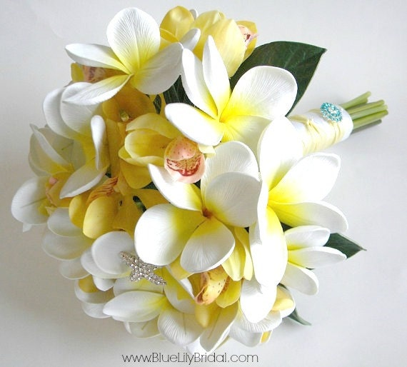 Favorito Il Bouquet da sposa Bouquet Angela-Real Touch Plumeria e WN46