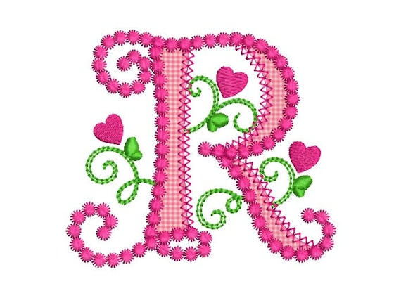 The Gallery For R Love Alphabet Wallpapers: Cute Letter R Alphabet For Lil Princess Hearts Applique