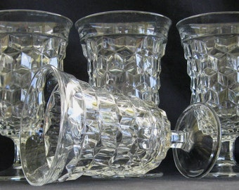 Fostoria American 9 oz. Low Goblets (Set of Four) in Excellent Condition