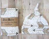 Gold Arrow - Designer Custom Organic Baby Blanket | Baby Blanket | Swaddle Wrap | Toddler Blanket by JuteBaby
