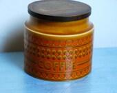 Vintage Hornsea Saffron Coffee Storage Jar with Lid 1960s/ 1970s
