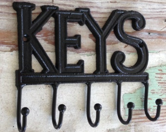 Decorative Wall Hook - Key Wall Hook - Key Holder - Organization  Black