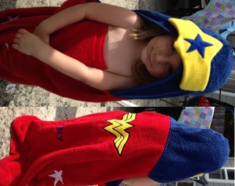 Girl Superhero Hooded Towel - Free Personalization