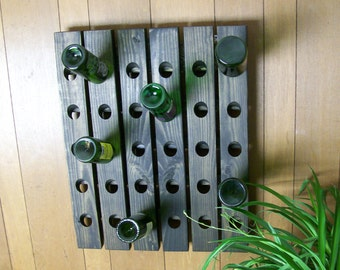 Riddling Rack Antique Style 30 Bottle Wine Rack Choice of 3 stain colors