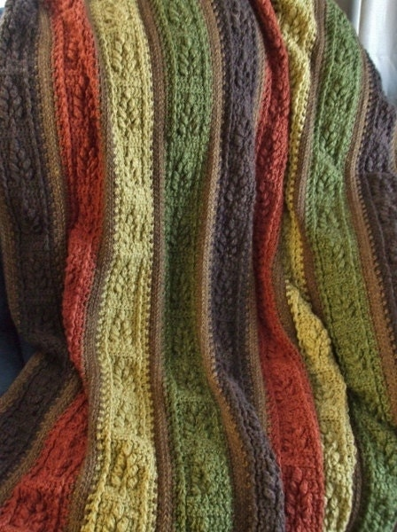 leaf afghan in autumn crochet throw blanket