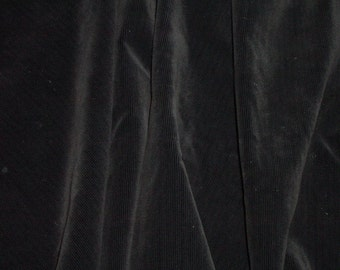 "Jet black cotton velveteen  - 3 yds. x 60"" wide"