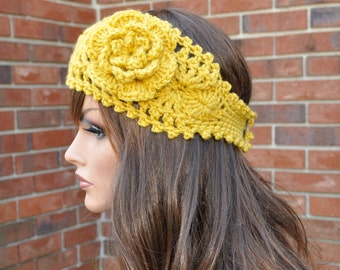 Crochet Ear Warmer,  Soft headband,  Handmade Crochet Headband, Style 1WF