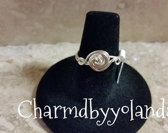 Wired Wrapped Eternal Knot Ring Size 7.5