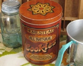 Homestead Brand All Natural Cookies Vintage Tin by Cheinco  from 1977, 1978