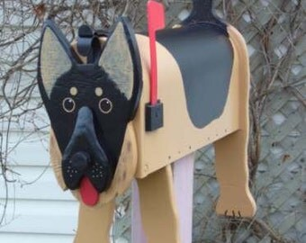 Dog mailboxes - German Shepherd mailbox