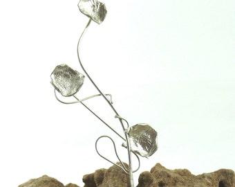 Sterling Silver 3 petal Brooch