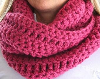 Crochet Pattern INFINITY SCARF PATTERN Instant Download
