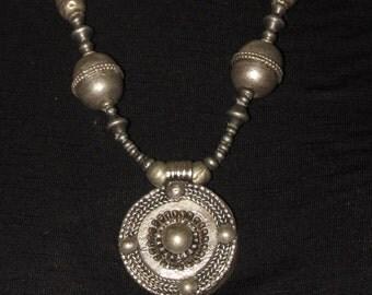 Bohemian Style Old Amhara Ethiopian Amulet Necklace