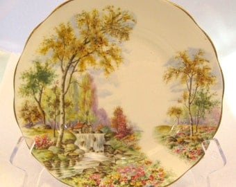 Vintage Small Plate by Royal Stands The Old Mill AStream 6 1/4 IN NICE! SHP