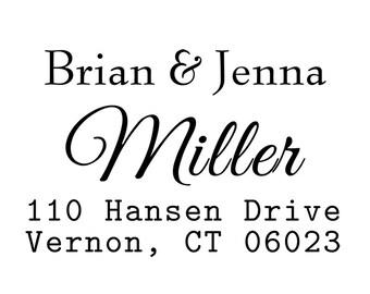 Return address stamp, SELF INKING custom address stamp,personalized stamp,wedding stamp,S56
