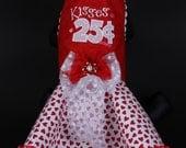 VALENTINE Dog Dress -- Kisses 25 Cents