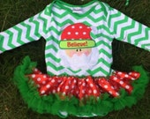 Girls Christmas outfit, Christmas chevron santa claus dress, Christmas Dress, Chevron dress, Baby Christmas Dress, Baby's first Christmas