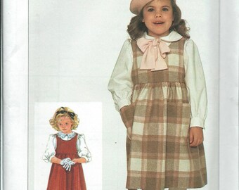 Simplicity 7059 Little Girls Blouse and Jumper Pattern, Size 3 UNCUT