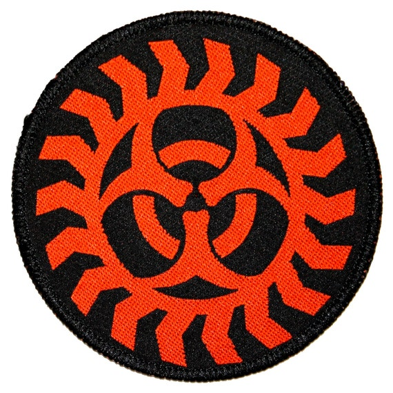 biohazard symbol american heavy metal band music logo sew on