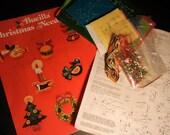 Vintage Felt Ornament KIT BUCILLA 2823 JEWELED Christmas Miniatures Holiday