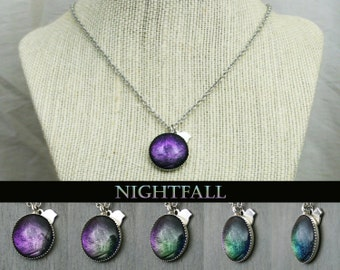Nightfall Color Shifting Antique Silver Necklace