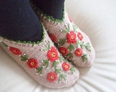 Socks Handmade Women Slippers Turkish Knitted slippers valentines day gifts  Authentic footwear Stylish foot warm Traditional Socks