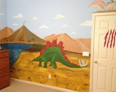 Dinosaur Mural, Canvas Mu...
