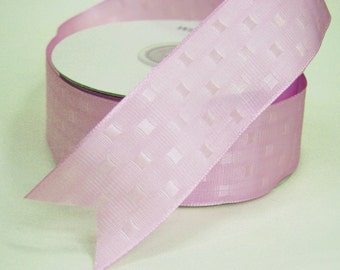 Lavender Wired Ribbon - 1.5 inch wide - by the yard/36 inch length - Double Sided Wired Ribbon - Lavender RandomBlocks Wired1.5 inch (Shbta)