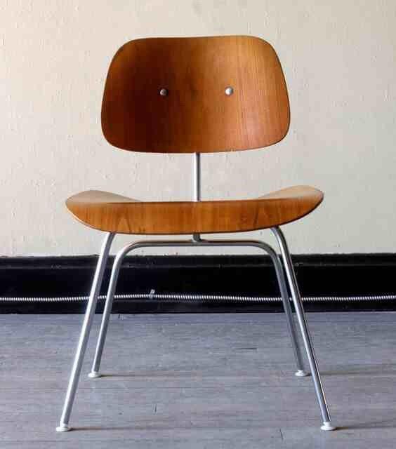 original eames dcm chair mid century modern herman miller