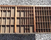 Vintage Letterpress Printer's Drawer Type Case Shadow Box