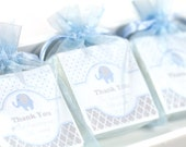 Baby Shower Soap favors , elephant shower favors, baby shower favors, 16 blue shower favors