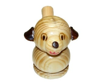 Wooden Dog toy whistle. Kids toy. Wooden eco friendly handmade toys for children