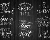 Photography Words Overlays (OVE009) - Support Senior Adoption, for shelter photographers, png files