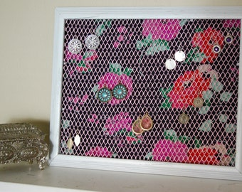 SOLD LOCALLY. Repurposed Earring Organizer. Do not purchase.