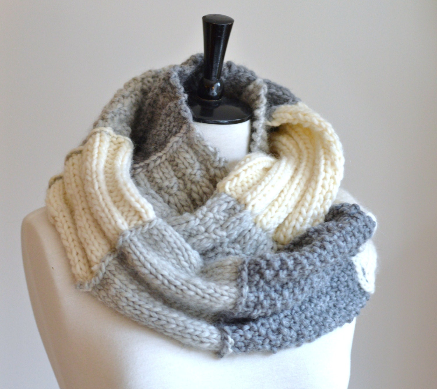 Easy Knitting Pattern Infinity Scarf Sampler by ...