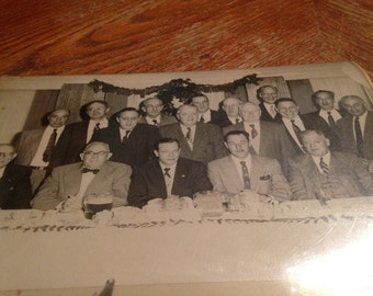Masonic Past Masters Dinner 1955 - Black & White Photo
