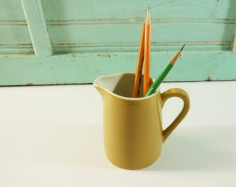 Small Mustard Brown Pitcher