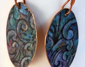 READY to SHIP Handmade Copper Splashful Earrings CPE88