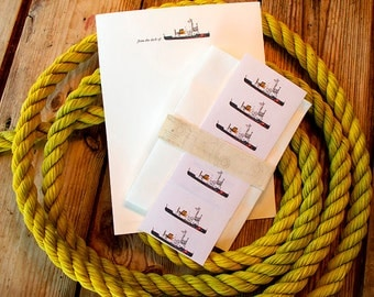 USCGC stationery and labels