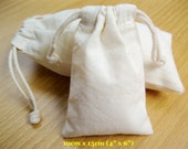 "50 pcs 4""x6"" Natural Cotton Bags Cloth Bags Jewelry Pouches Wholesale Gift Bags"