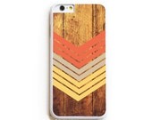 iPhone 6 Case. iPhone 6 Cases. Dark Wood Geometric Nectarine. Phone Case. iPhone Case. Case for iPhone 6. Geometric Phone Case.
