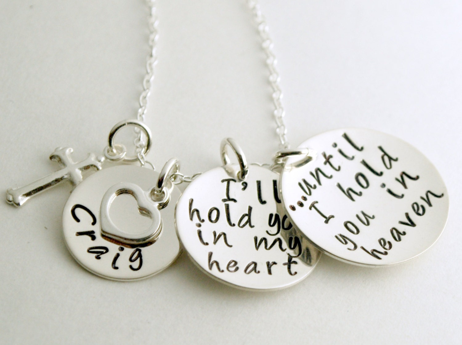 memorial necklace in memory of a loved one with custom name