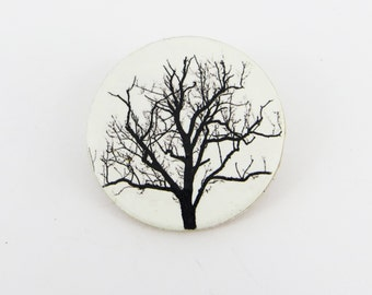 Tree Sihouette Brooch
